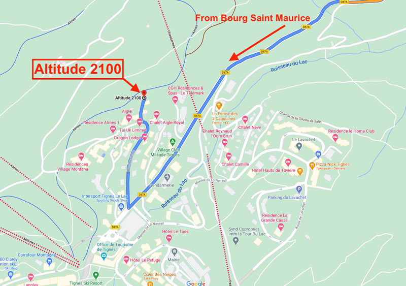 Altitude 2100 Location Map