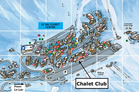 Chalet Club 4 Location Map