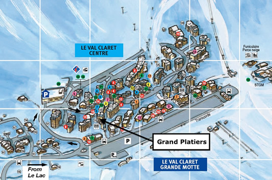 Grand Platiers 2 Location Map