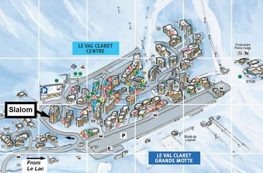 Slalom 3 Location Map