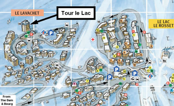 Tour du Lac Location Map
