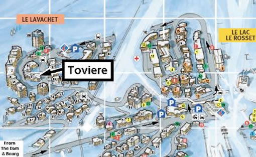 Toviere 3 Location Map