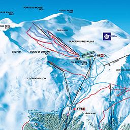 Tignes Ski Snowboard Piste Map