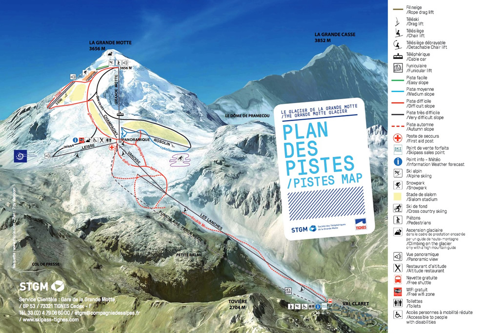Summer In Tignes Ski Snowboard Resort